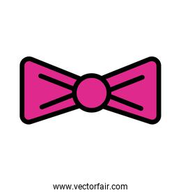 bowtie elegant line and fill style icon