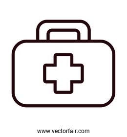 medical kit with cross line style