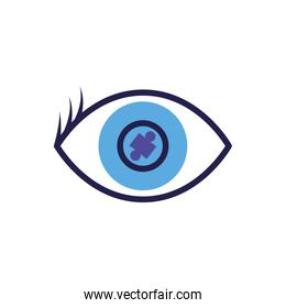 cyber security eye in white background