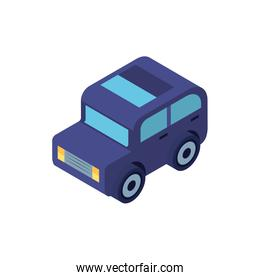 Isolated isometric blue car vehicle vector design