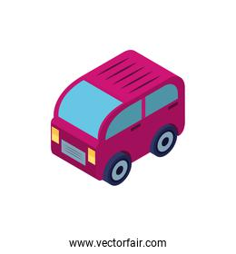 Isolated isometric red car vehicle vector design
