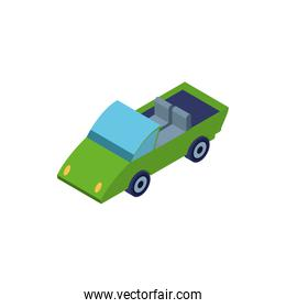 convertible car on white background