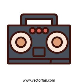 radio music player line and fill icon