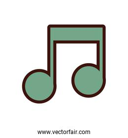 music note line and fill icon