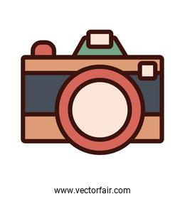 photographic camera line and fill style icon