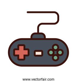 video game control line and fill style icon