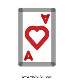 poker card with heart multiply line style