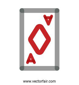 poker card with diamond multiply line style