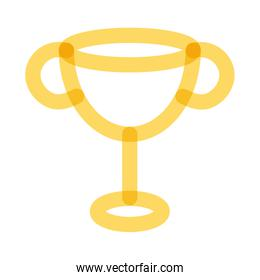 trophy cup award multiply line style icon