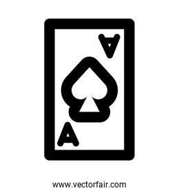 poker card with spade line style