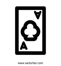 poker card with clover line style