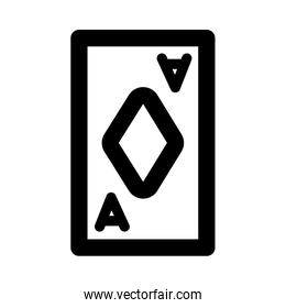 poker card with diamond line style