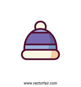 Isolated winter hat vector design
