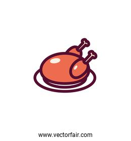 Isolated chicken food vector design