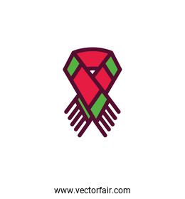 Isolated winter scarf vector design