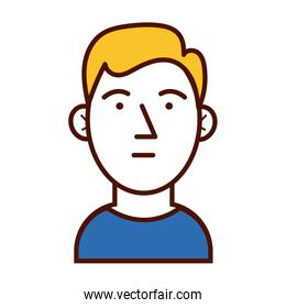 young blond man avatar character icon