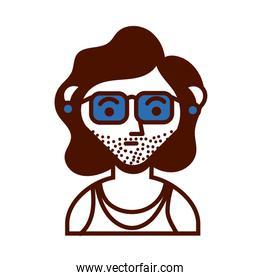 young man with sunglasses avatar character