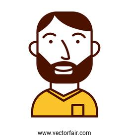 young man bearded avatar character icon