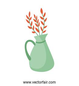 vase with flowers hand draw style