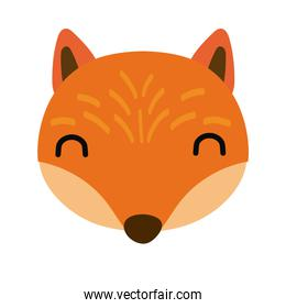 cute little fox animal flat style