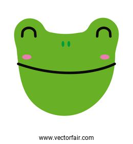 cute little frog flat style icon
