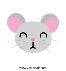 cute little mouse animal flat style
