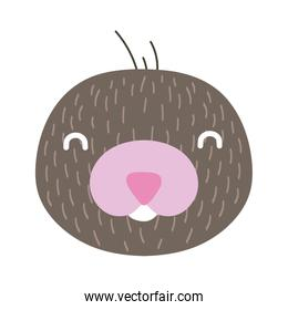 cute little platypus animal flat style icon
