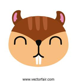 cute little chipmunk animal flat style icon