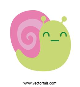 cute snail spring animal flat style icon