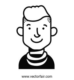 youth man with crest avatar character icon
