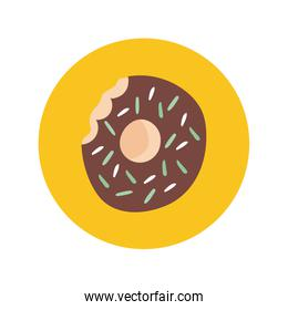 sweet donut hand draw style