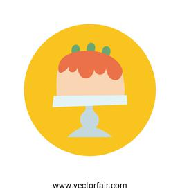 sweet cake hand draw and block style