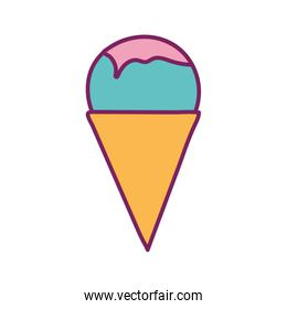 Isolated ice cream line and fill style icon vector design