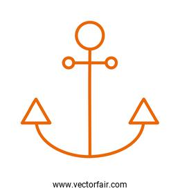 Isolated anchor line style icon vector design
