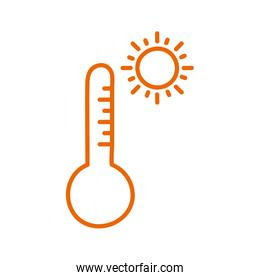Isolated thermometer line style icon vector design