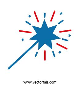 Isolated magic stick flat style icon vector design