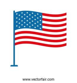 Isolated usa flag flat style icon vector design