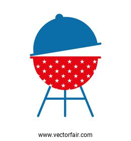 bbq grill flat style icon vector design