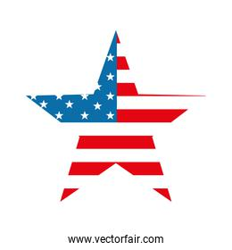 Isolated usa flag star flat style icon vector design