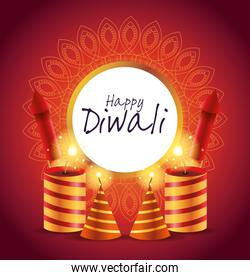 Happy Diwali Indian Celebration Design