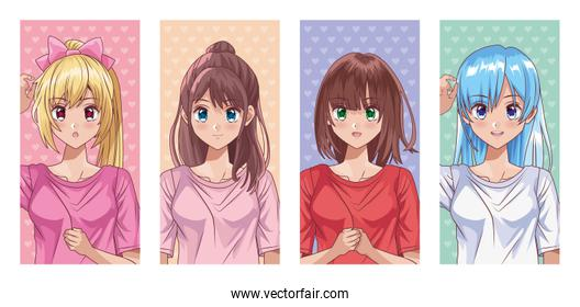 bundle of young girls style characters