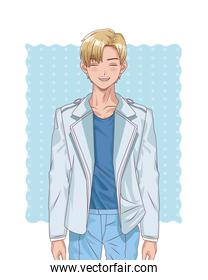 young blond boy style character