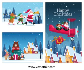 bundle of merry christmas cards
