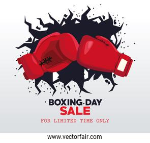 boxing day sale poster with gloves