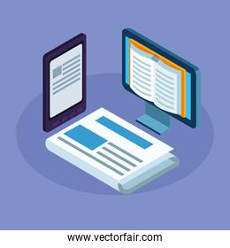 electronics books in desktop and tablet