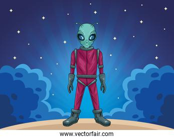 alien in the space character