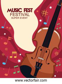 music fest poster with fiddle
