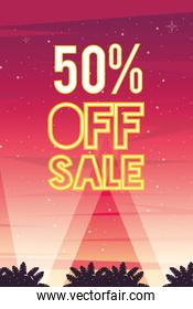 sale cyber punk poster with 50 percent off