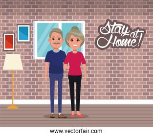stay at home campaign with couple