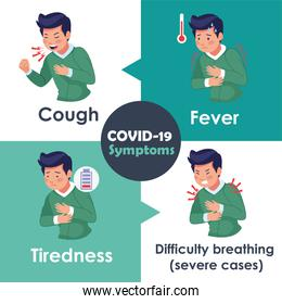 covid19 infographics with symptoms disease